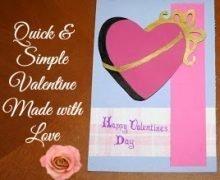 Valentine Chocolate Box Card