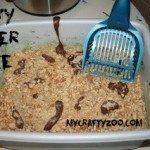 Kitty Litter Halloween Cake