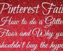 Red Glitter Floor