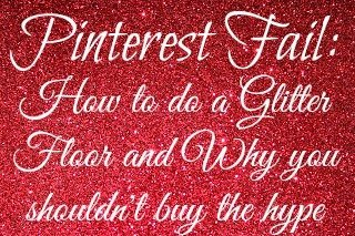 PinterestFail Red Glitter Floor