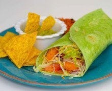 Fast Fixin' Chicken Verde Wrap Recipe