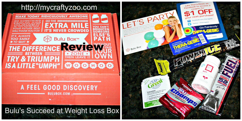 Bulu Weight Loss Subscription Box My Crafty Zoo