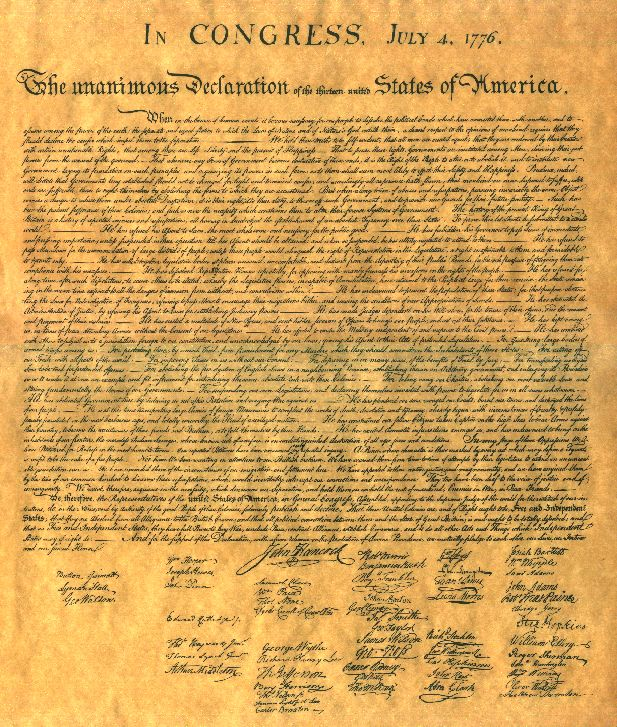 Happy Independence Day: The Declaration of Independence