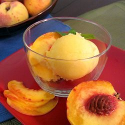 Peach Mango Sorbet Recipe | My Crafty Zoo