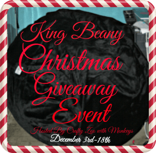 Enter to win the King Beany Christmas Giveaway Event. Ends 12/15.