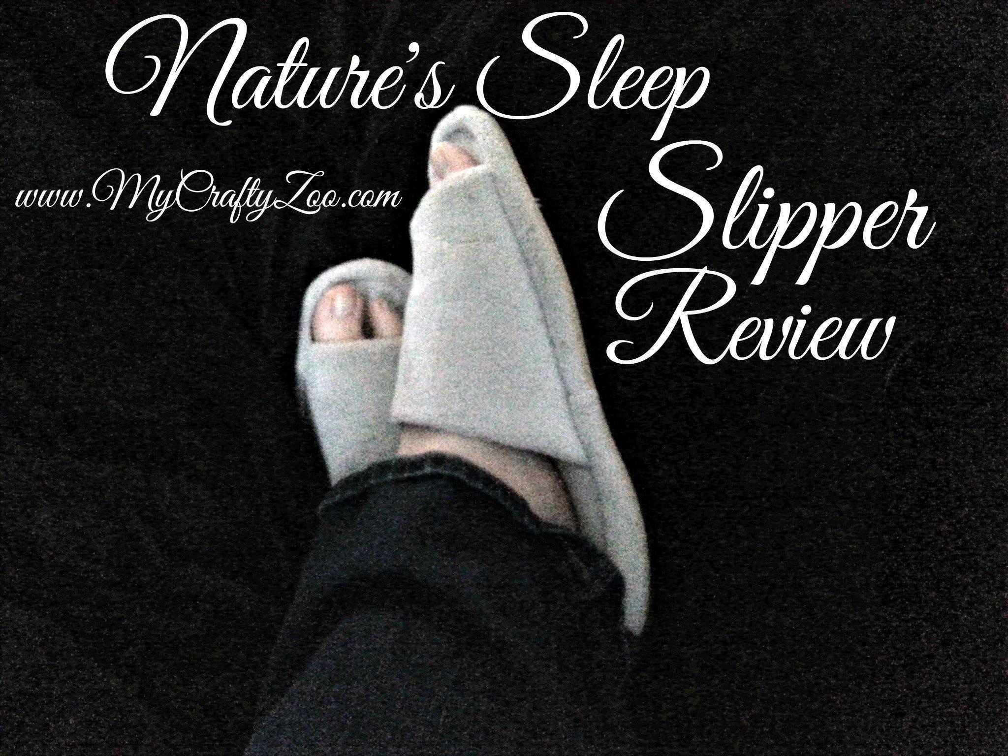 Nature's Sleep Memory Foam Slippers