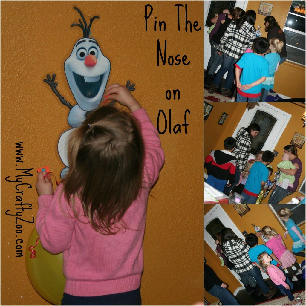 Disney Party: Pin the Nose on Olaf!