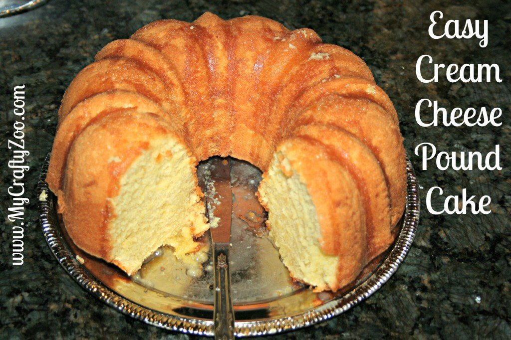 Easy Cream Cheese Pound Cake (Can be made dairy free)