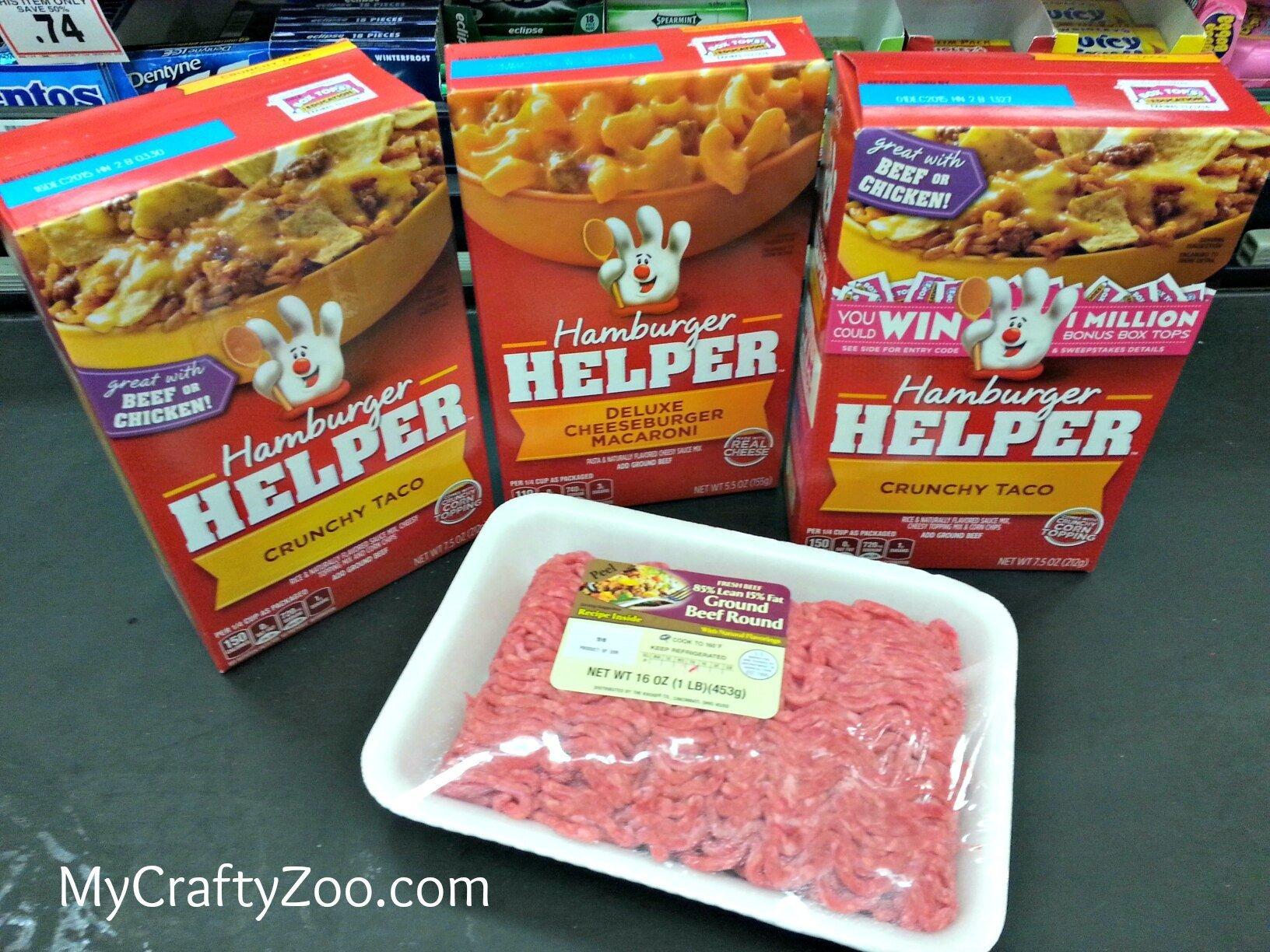 #Free Ground Beef with Hamburger Helper #sp