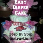 Super Simple Diaper Cake with Step By Step Instructions