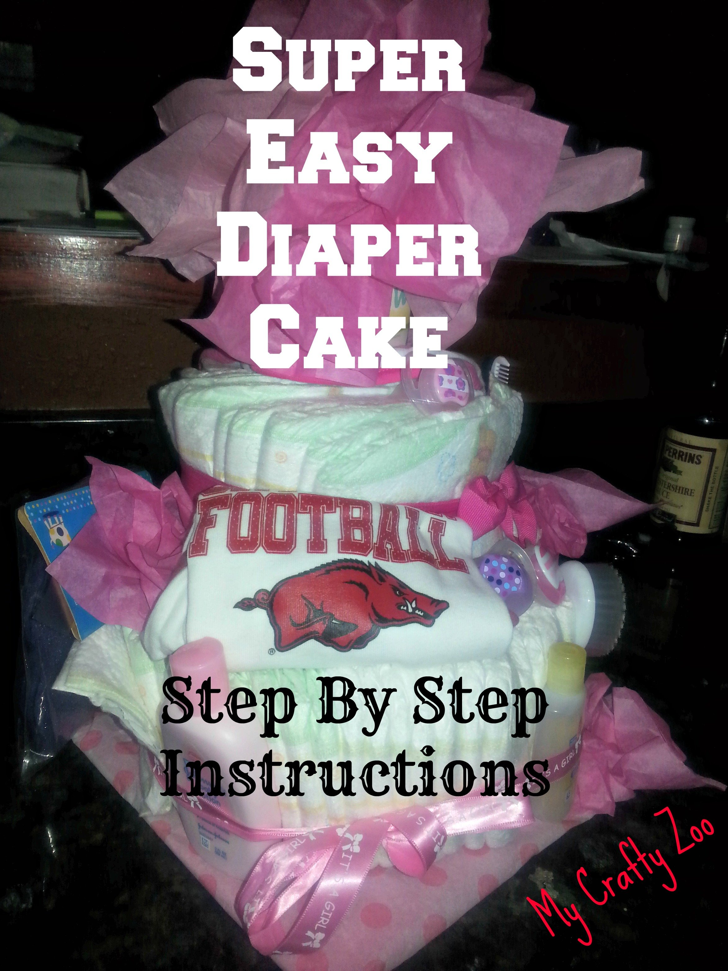 Simple Diaper Cake Instructions