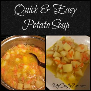 Quick & Easy Potato Soup (Dairy Free)