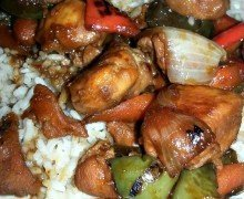 Bourbon Chicken & Veggies