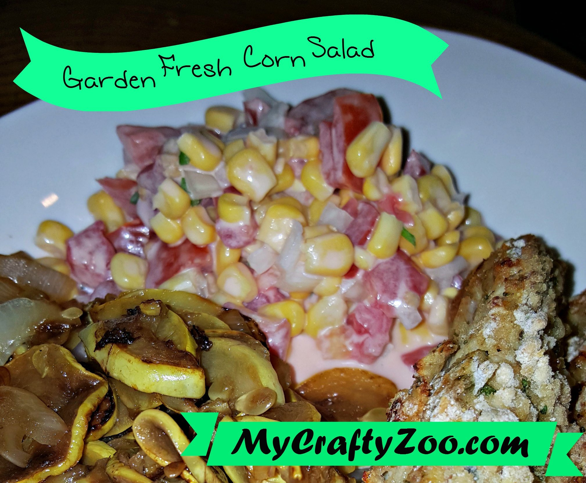 Looking for a fabulous salad with minimum calories? Check out this wonderful Garden Fresh Corn Salad!