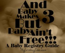 And Baby Makes 3, but Baby Ain't Free!  A Baby Registry Guide