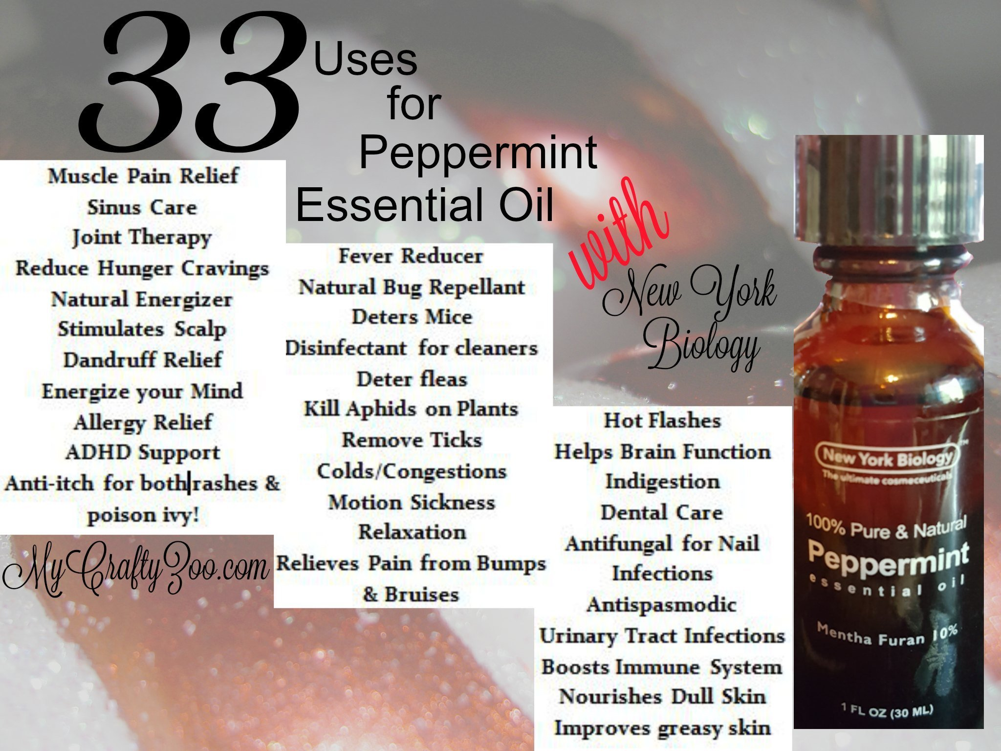 33 Uses for Peppermint Essential Oil with #NewYorkBiology