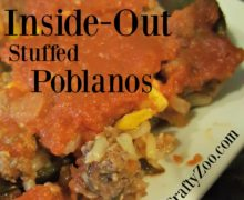 Inside Out Stuffed Poblanos