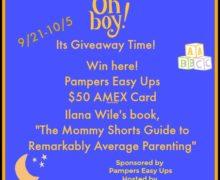 Pamper's Easy Up Cash #Giveaway Ends 10/5