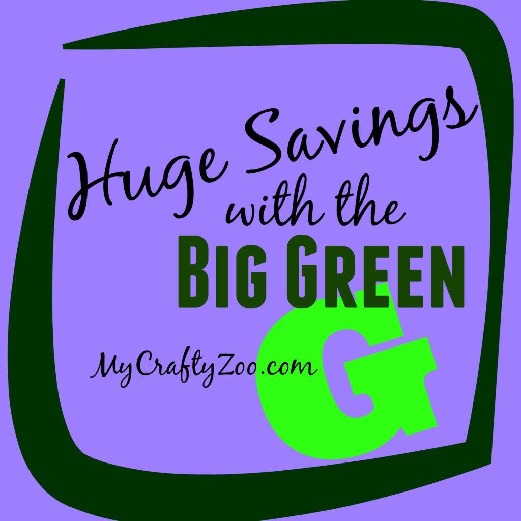 Huge Savings With the Big Green G