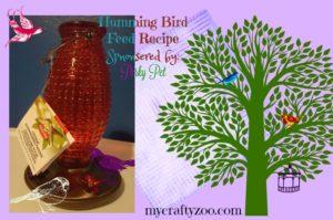 Hummingbird Feeder & Hummingbird Food Recipe