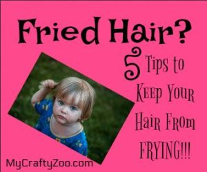 Fired Hair? 5 Tips to Keep Your Hair From Frying!
