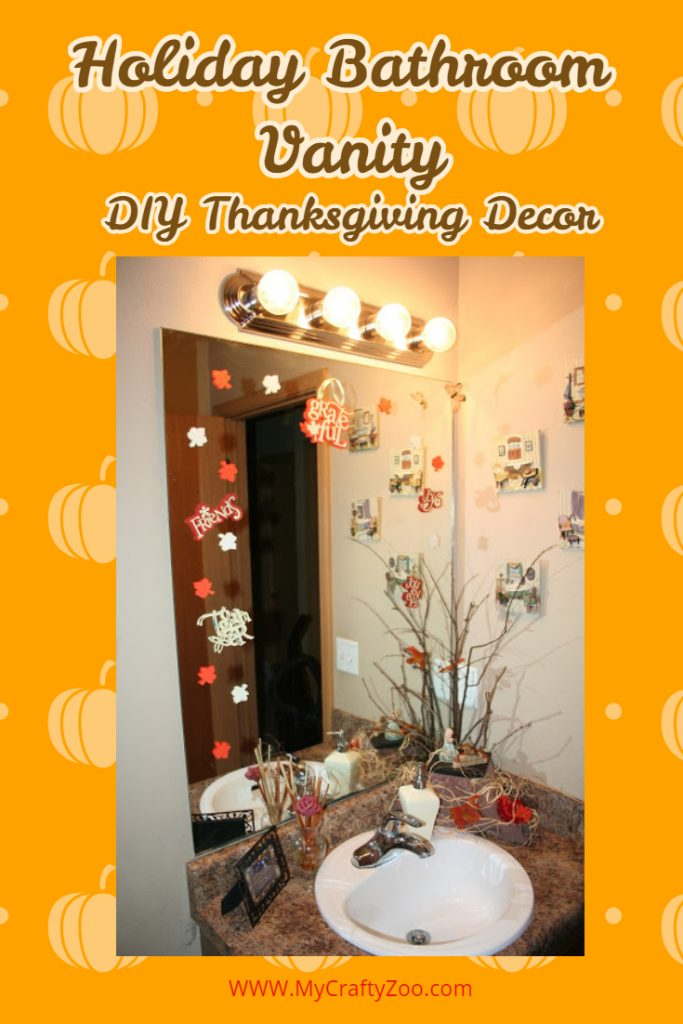 Holiday Bathroom Vanity: DIY Thanksgiving Decor