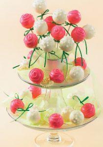 DIY Romantic Roses Cake Pops Recipe