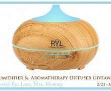 Humidifier and Aromatherapy Giveaway Ends March 15