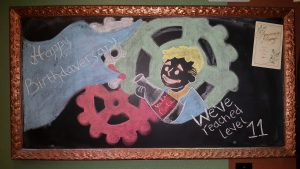 Our Birthdaversary Chalkboard! (Birthday and Anniversary Combined!)