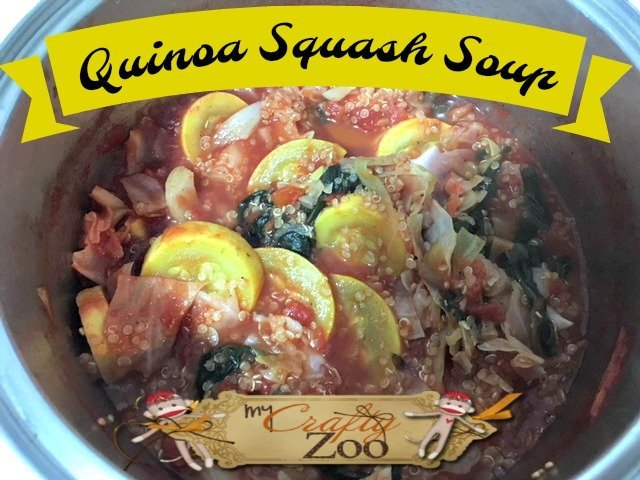 Quinoa Squash Soup: This hearty soup will warm you up and knock you out! All without unhealthy junk!