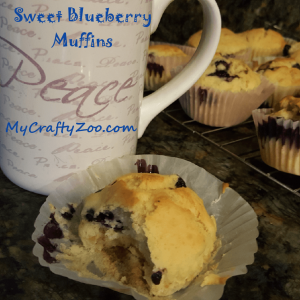 Sweet Blueberry Muffins!  These muffins are super easy and delicious! Anyone can make them!