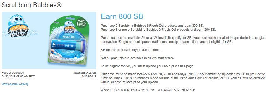 scrub-300x283 Scrubbing Bubbles Deal: Got Paid $2.75 to Buy!!!