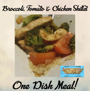 Broccoli Tomato Chicken Skillet: Quick, Easy & Healthy One Dish Weeknight Meal