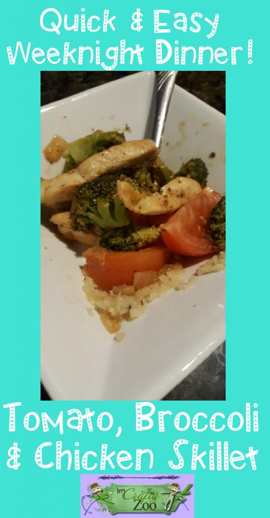 Broccoli Tomato Chicken Skillet Quick and Easy