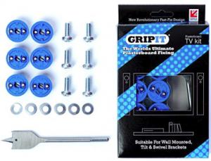 "Grip-It 1"" Flat Screen TV Fixing Anchor Kit"