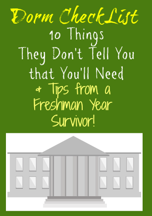 Dorm Essentials They Don't Tell You About & Tips from a Freshman Year Survivor
