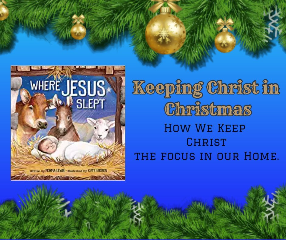 Keeping Christ in Christmas #WhereJesusSlept @CraftyZoo