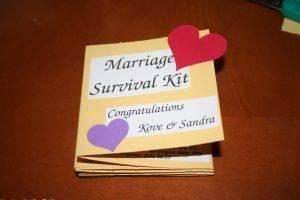 Marriage Survival Kit: DIY Wedding Gift