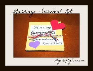 Marriage Survival Kit: DIY Wedding Gift