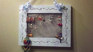 DIY Earring Holder: Upcycled Items Project