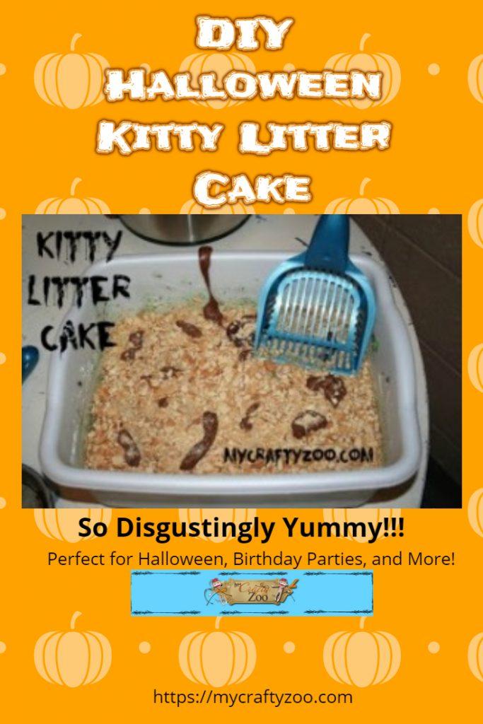 Kitty Litter Halloween Cake: Disgustingly Yummy!