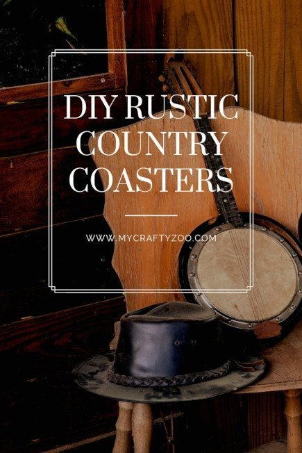 DIY Rustic Country Coasters: Easy and Adorable