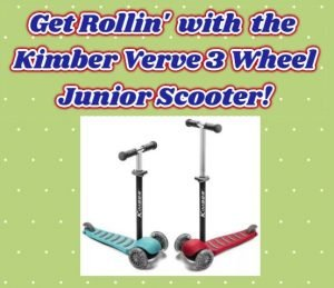 Get Rollin' with Kimber Verve 3 Wheel Scooter!