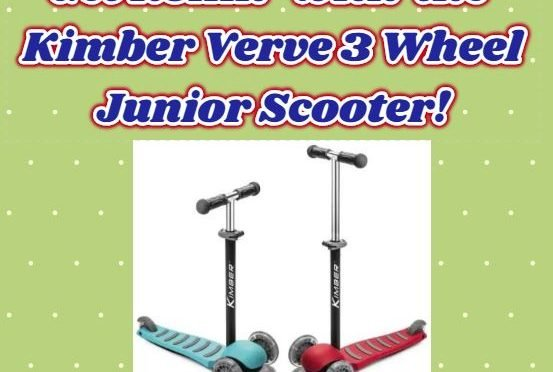 Kimber Verve: Get with This 3 Wheel Jr Kick Scooter!