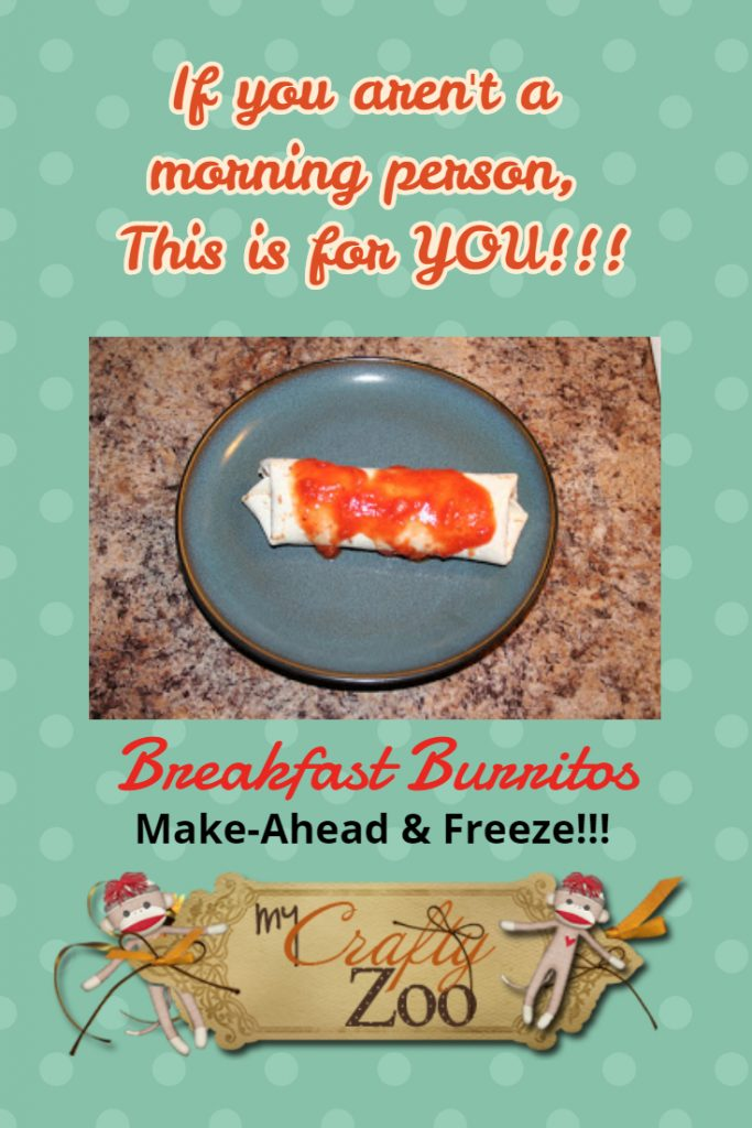 Breakfast Burritos: Make Ahead & Freeze!!