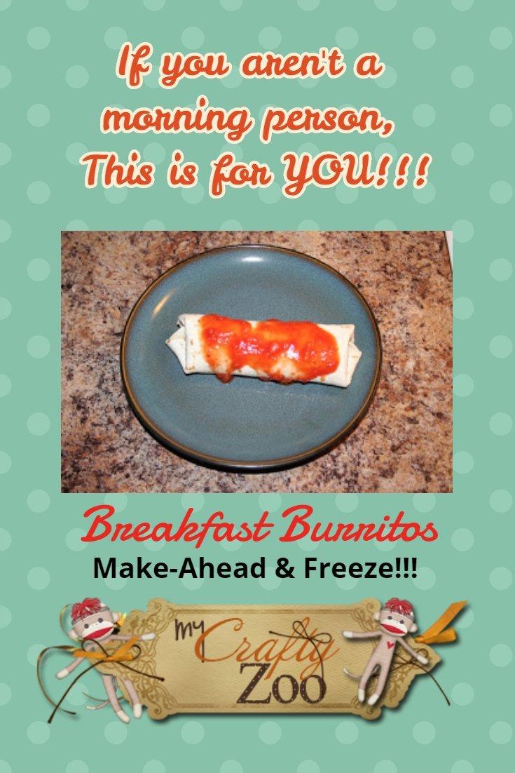 Breakfast Burritos: Make Ahead & Freeze!!