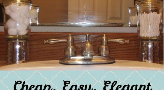 DIY Apothecary Jars for Your Bathroom Decor