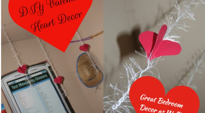 Hanging Heart Decor #ValentinesDay