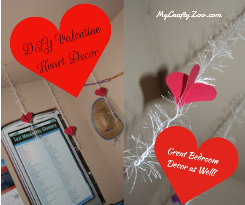 Hanging Heart Decor #ValentinesDay
