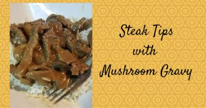 Steak Tips with Gravy #Recipe